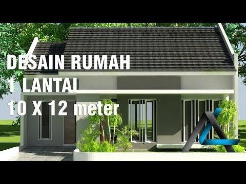 konsep desain rumah 10x12 meter 1 lantai, video desain