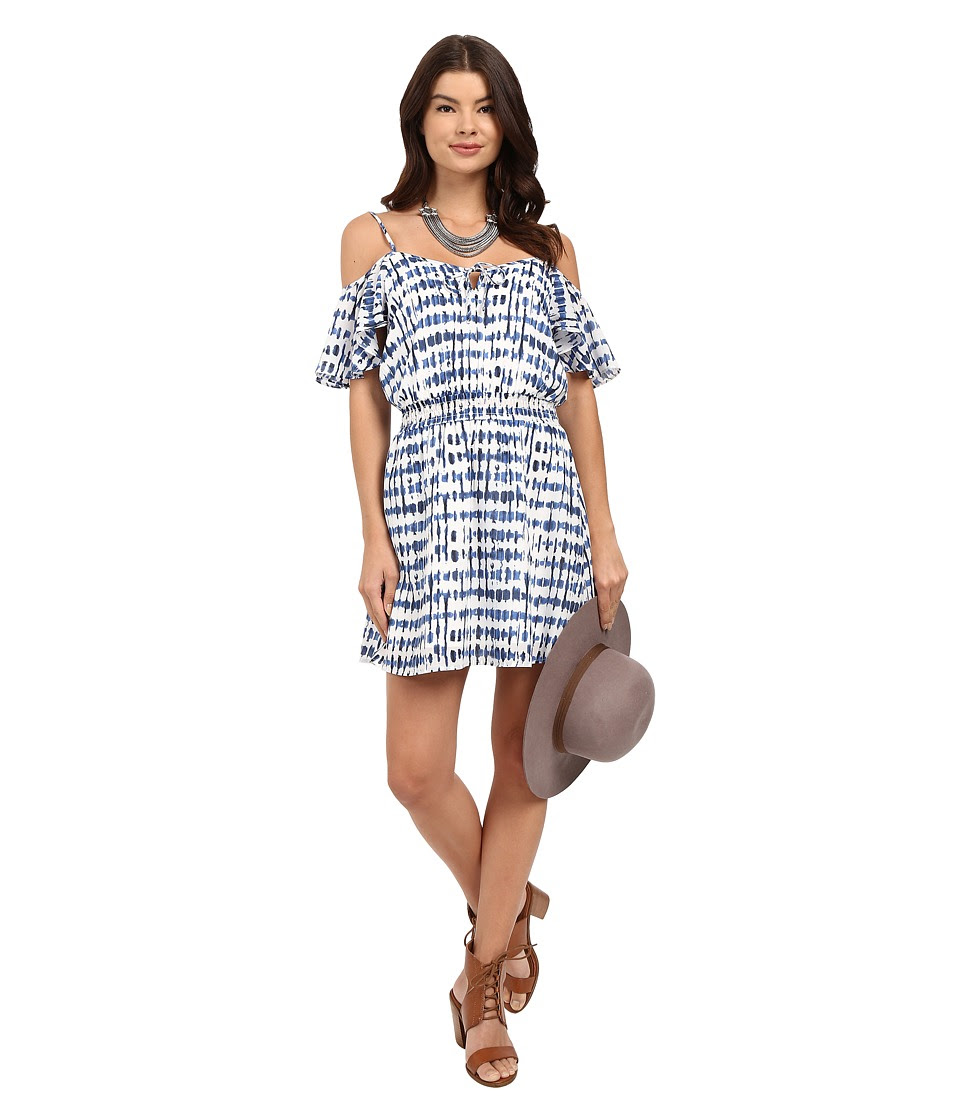 Jack by BB Dakota - Vivi Stepping Stones Printed Crepe de Chine Smocked Waist Dress (Multi) Women's Dress