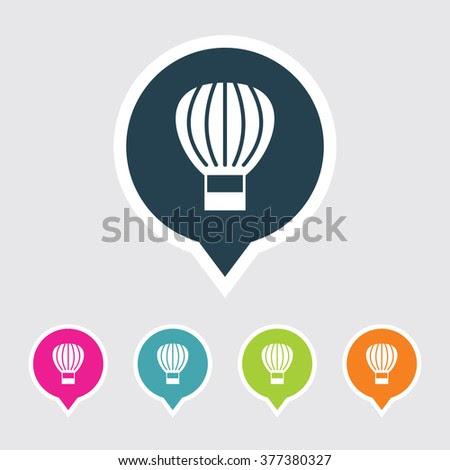 Very Useful Editable Hot Air Balloon Or Parachute Icon On ...