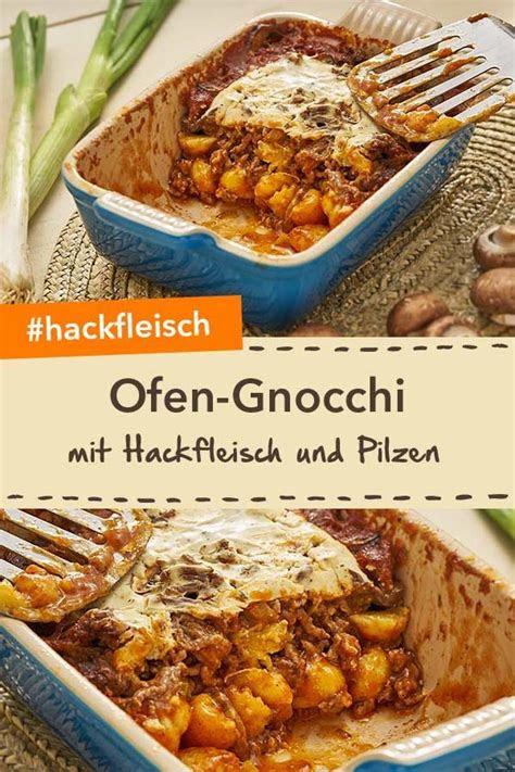 ofen gnocchi mit pilzen   einfache gerichte