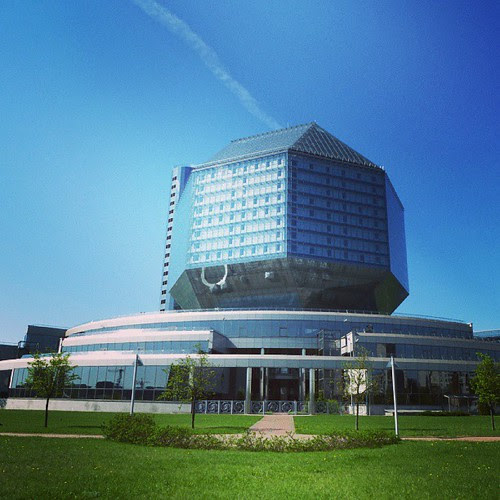 Здание национальной библиотеки РБ не помещается в стандартный размер фотографии Instagram
