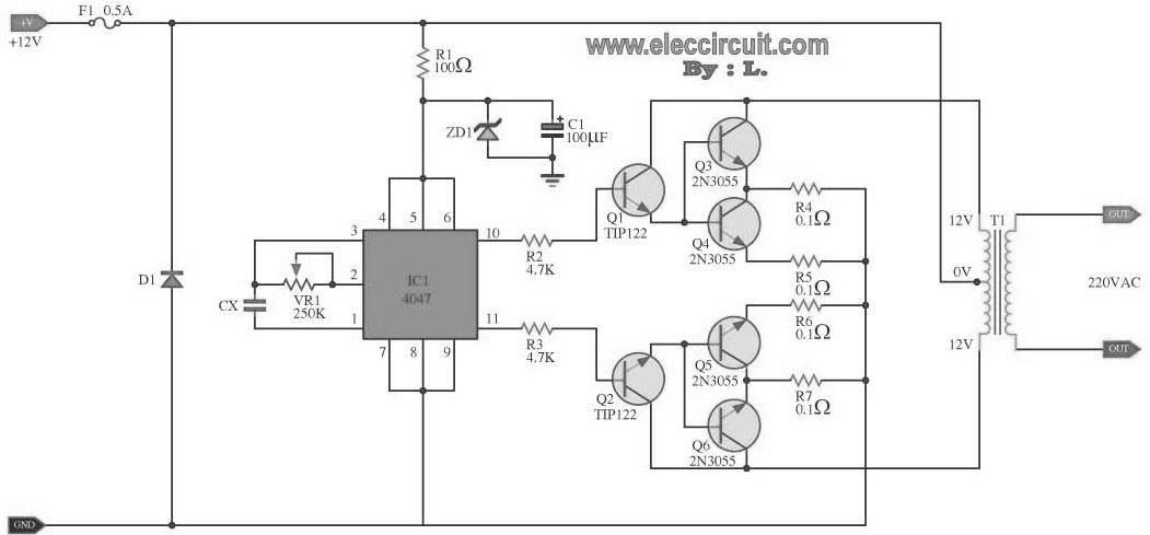 Diagram Further Simple Inverter Circuit Diagram Wiring Harness