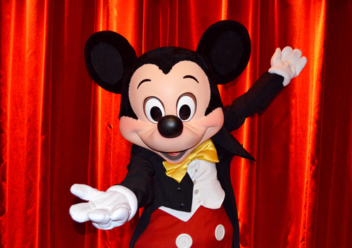 TechniTrader Disney Mickey Mouse on a red stage