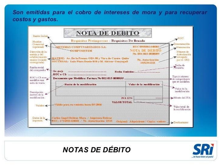contabilidad general  notas de d u00c9bito y cr u00c9dito