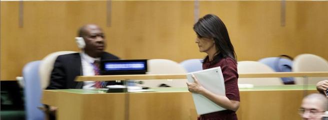 L'ambasciatrice  degli Usa all'Onu, Nikki Haley(Epa)