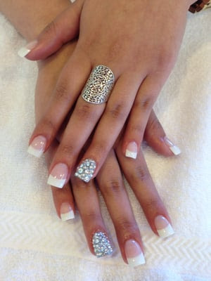Cute White Tip Nail Designs Gallery - Nail Art And Nail Design Ideas