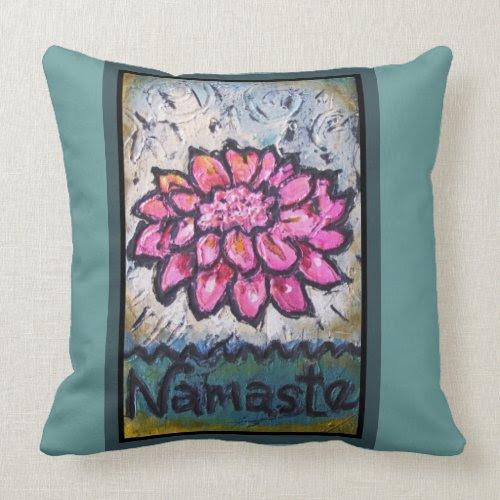 Namaste Yoga Pillow mojo_throwpillow