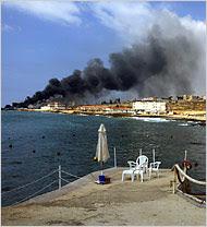Israeli Warplanes Blast Minibus