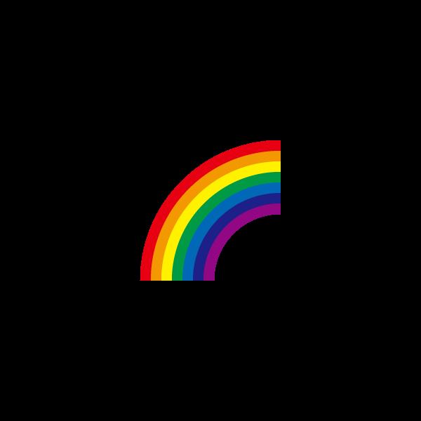 かわいい虹の無料イラスト商用フリー オイデ43