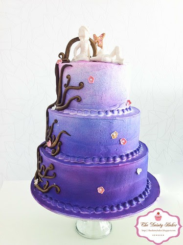 Ombre Fantasy Wedding cake-2