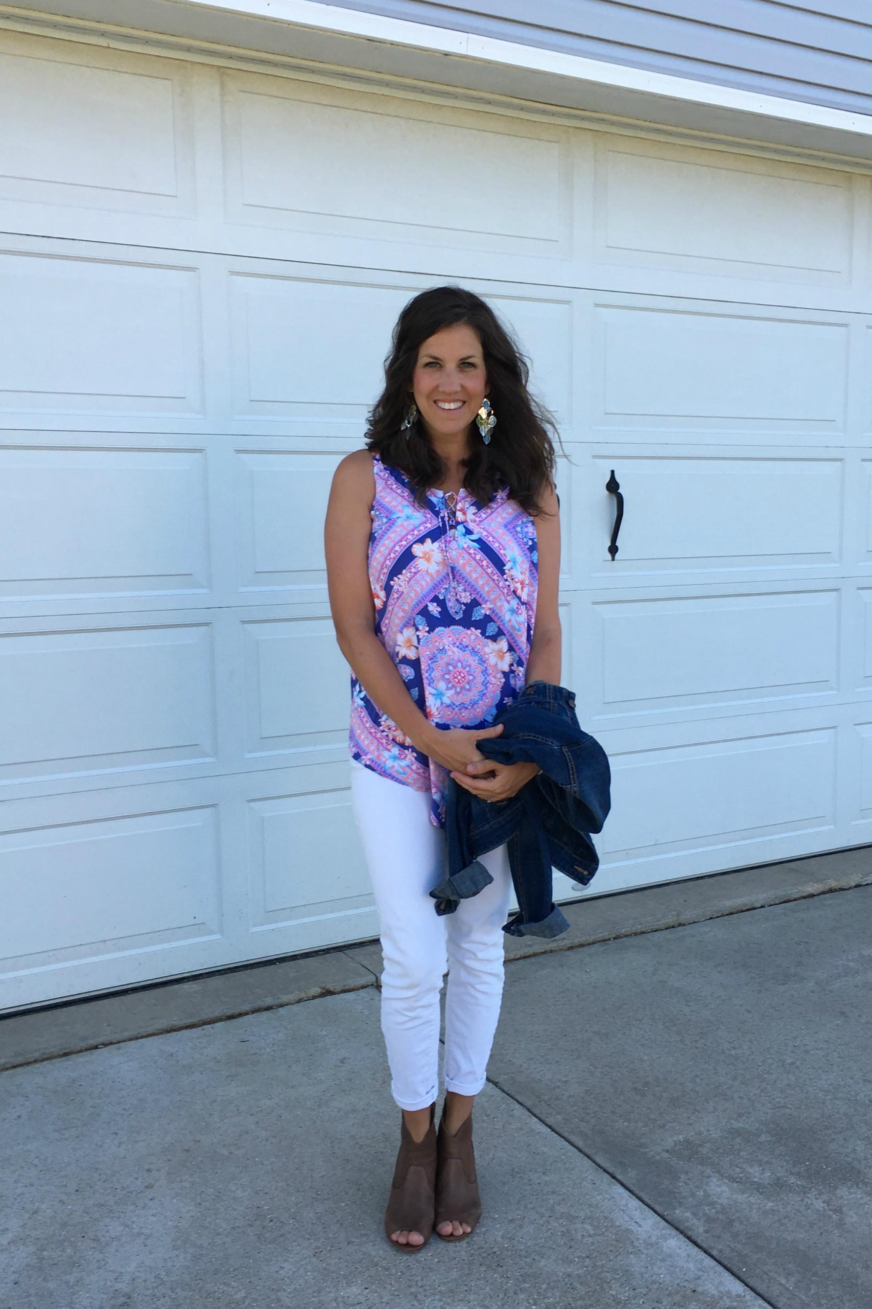 white pants in summer  momma in flip flops