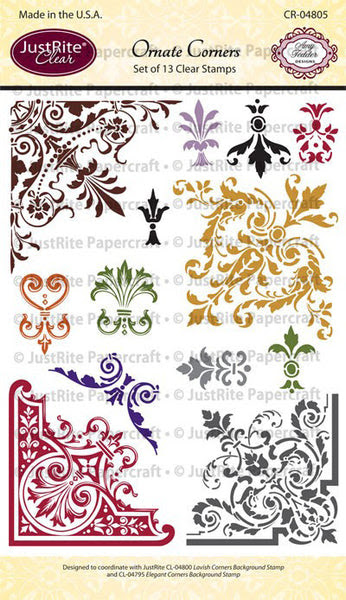 Ornate Corners Clear Stamps