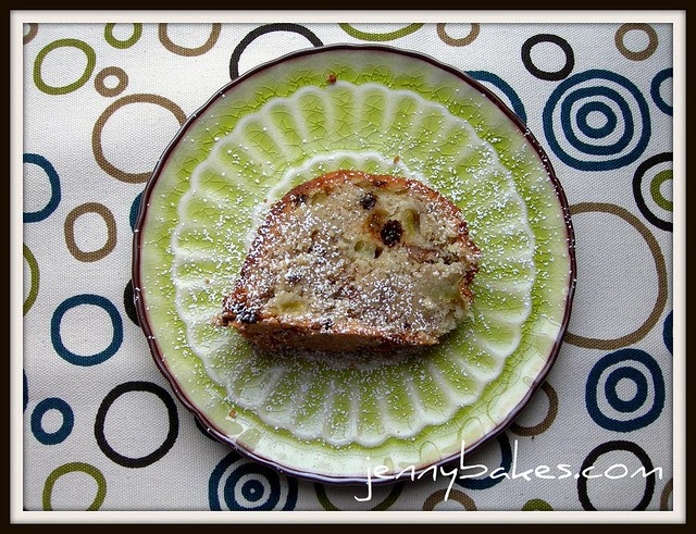 Slice of Green Tomato Bundt Cake