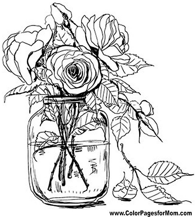 96 Top Flower Coloring Pages Pinterest Download Free Images