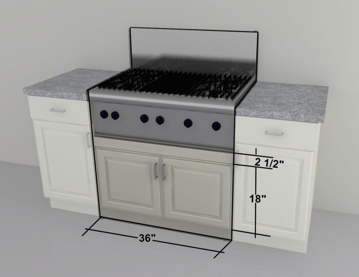 "IKEA custom cabinets: 36"" farm sink or gas cooktop units"