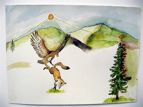 Bird and fox