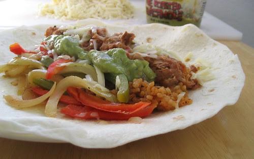 Chipotle Style Fajita Burritos
