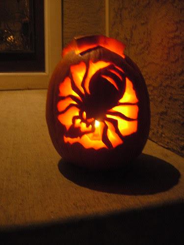 Maggie's Pumpkin - the spider