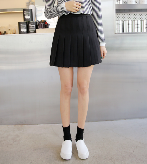 [Envylook] Knife-Pleated Skirt