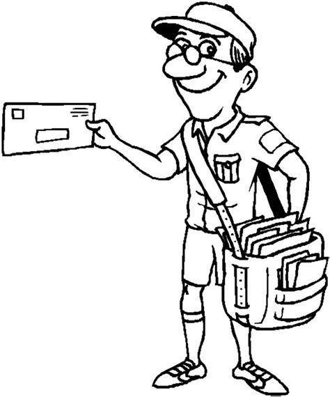 postman  jobs printable coloring pages