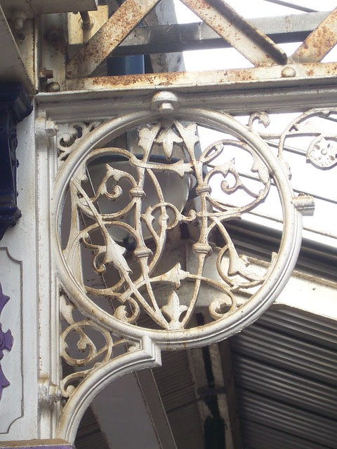 Spandrel by Andrew Handyside and Company of Derby and London,  detail - Hartlepool Railway Station