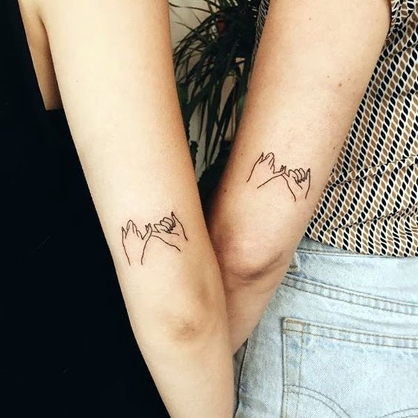 Adorable Sisters Forever Tattoo Design Ideas (26)