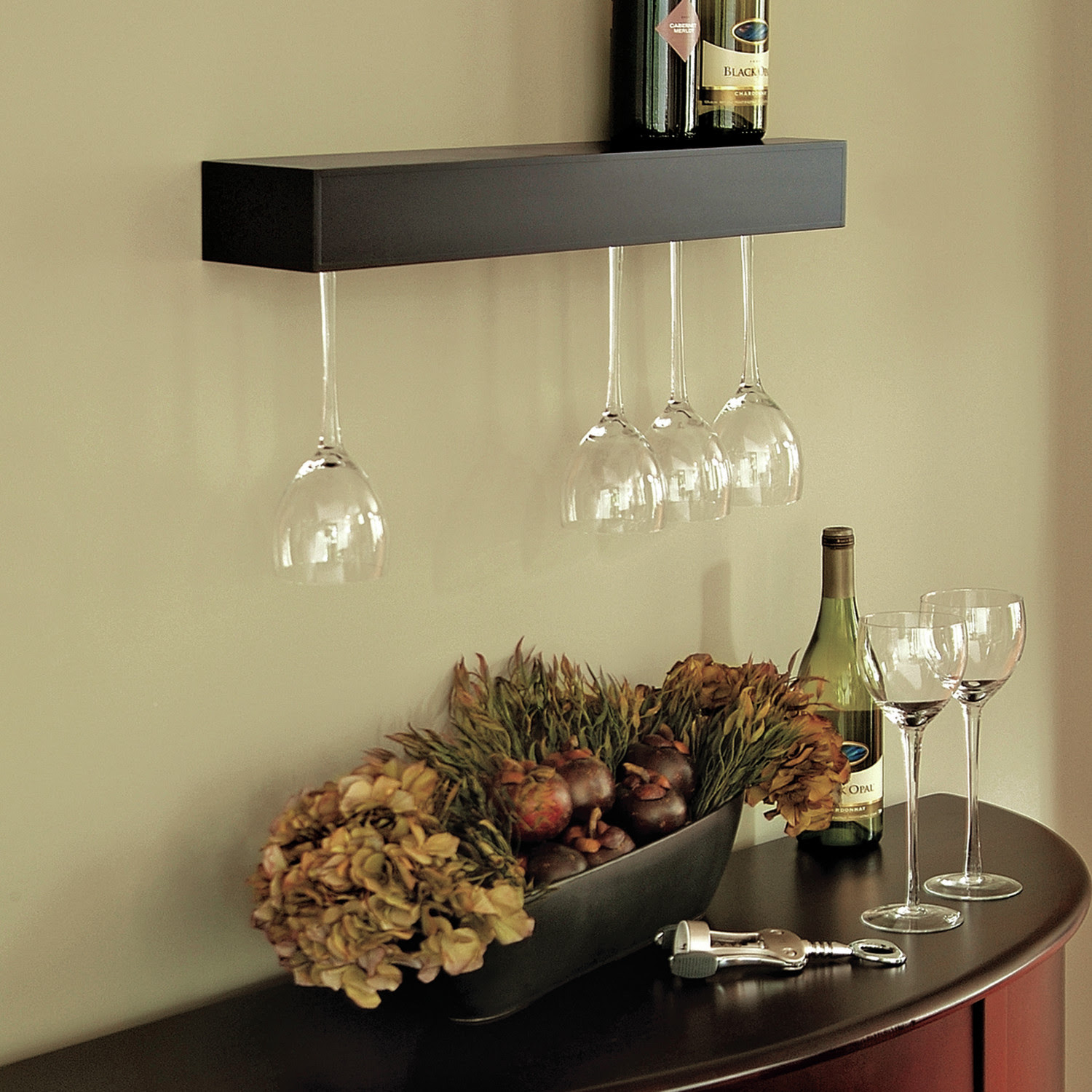 Cool Wall Mounted Wine Glass Holder Homesfeed