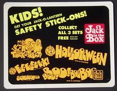 Halloween Stickers sign