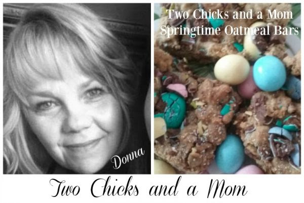 Two Chicks and a Mom Springtime Oatmeal Bars