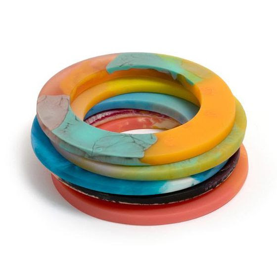 OH! the colors!! ... Multi-Coloured Bangles by Hannah Carlyle