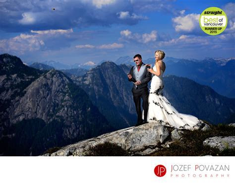 Helicopter Mountain wedding best Vancouver photographer