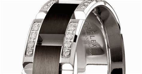 Mens Diamond Black Wedding Rings Tiffany 18k White Gold