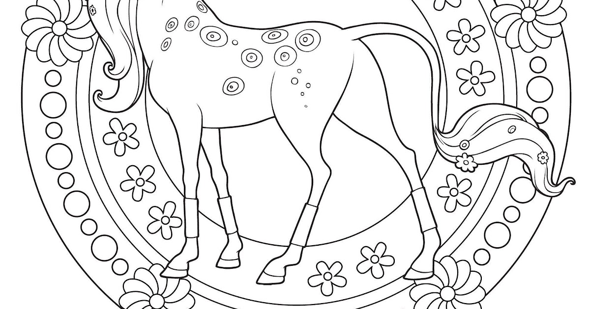 ausmalbild pferde bauernhof  aglhk