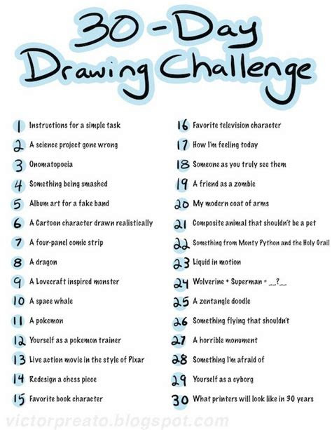 victor preato iv  day drawing challenge list