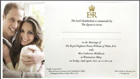 prince william kate middleton wedding invitation   My