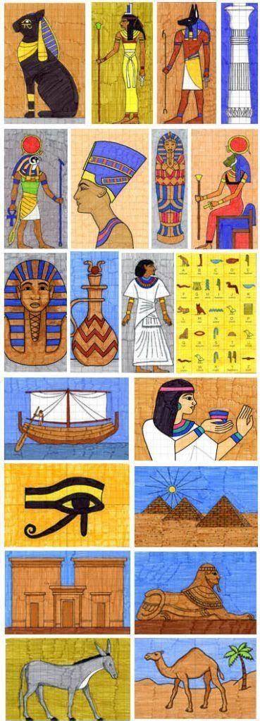 egyptian drawing  egipet khudozhestvennye proekty
