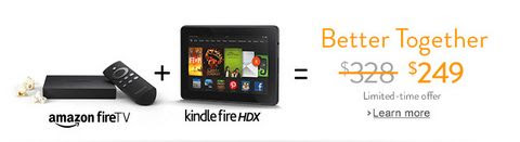 Amazon Fire TV and Kindle Fire HDX 7in 16GB Bundle