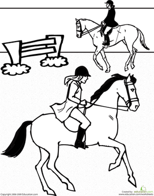 Horseback Riding | Worksheet | Education.com