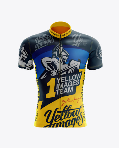 Download Free Men's Cycling Jersey mockup (Front View) (PSD)