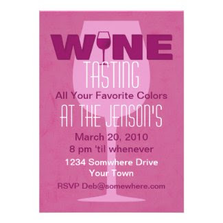 Favorite Color Is Wine Tasting Invitation