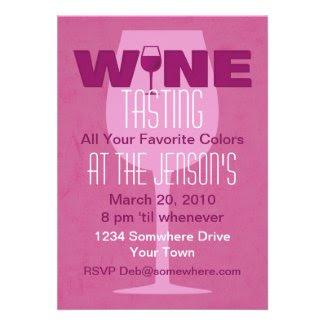 Favorite Color Is Wine Tasting Invitation
