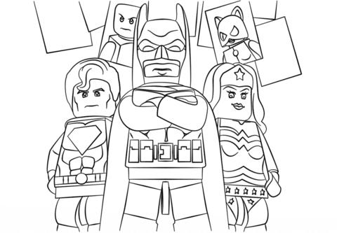 Disegno Di Lego Super Heroes Da Colorare Disegni Da Colorare E