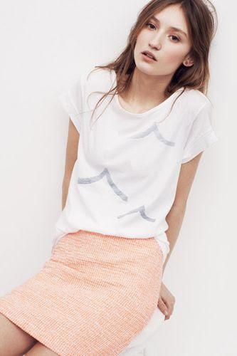 To A Tee — A graphic-printed T-shirt is the ultimate summer staple to pair with anything — even a polished pencil skirt — for a light look that wont weigh you down.  Photo: Courtesy of Madewell
