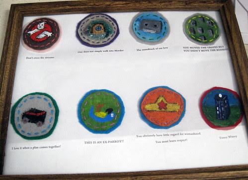 Nerd Merit Badges Mounted