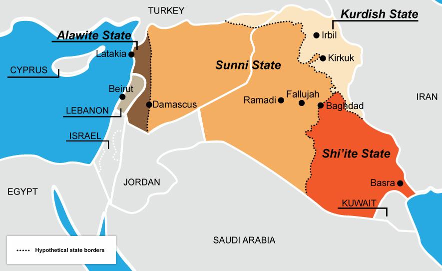 La ricetta dell'ex ambasciatore USA all'ONU John Bolton per frenare l'avanzata dell'ISIS: creare uno stato sunnita in Iraq e Siria,una nazione curda e una alawita