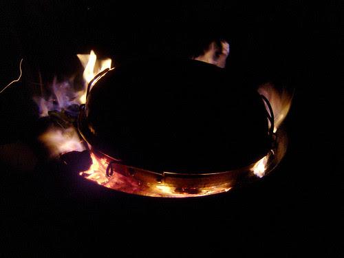 Cataplana on the fire
