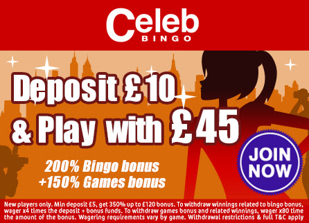 Deposit just £10 and play with £45!