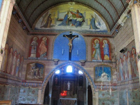 St.André-church-Villaines-les-Rochers wall coverings