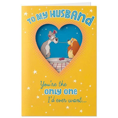 Lady and the Tramp Father's Day Card for Husband