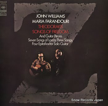 WILLIAMS, JOHN theodorakis; songs of freedom
